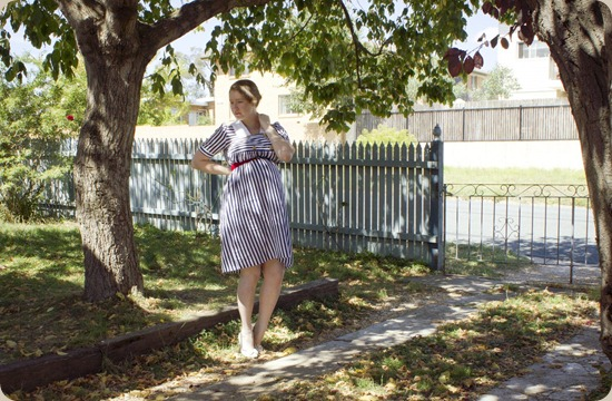 Stripes Forever Maternity Dress - Depict This