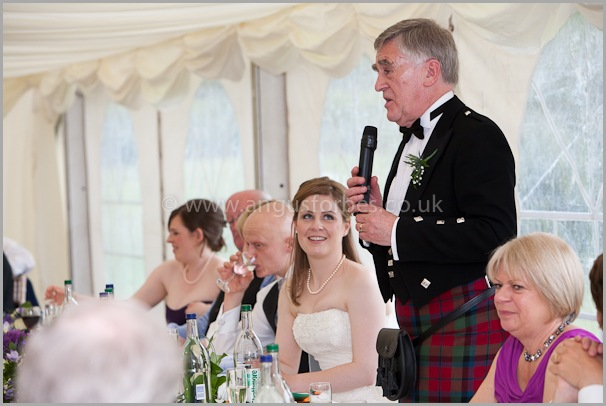 Wedding photographer at dollar academy, angus forbes