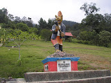 Tugu Rimau - the starting point for the shortest route to Dempo (Daniel Quinn, October 2011)