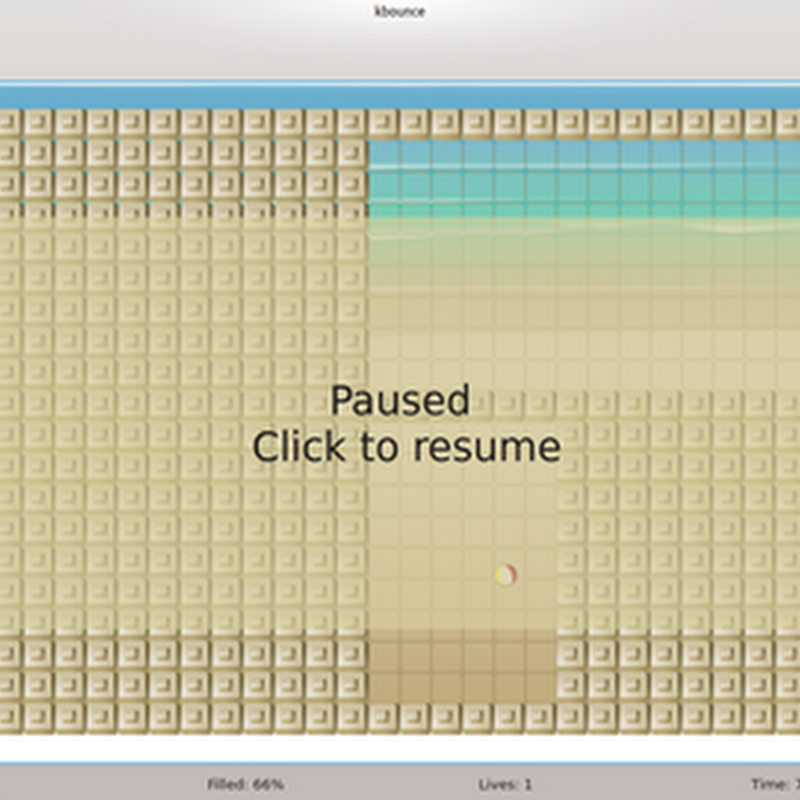 KBounce è un gioco di tipo arcade ma con aspetti rompicapo.
