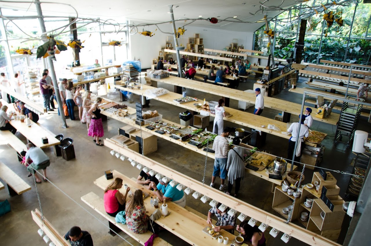 Eating area at Eden Project