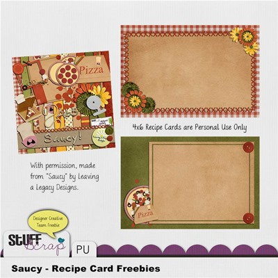 Leaving a Legacy Designs - Saucy - Recipe Card Preview