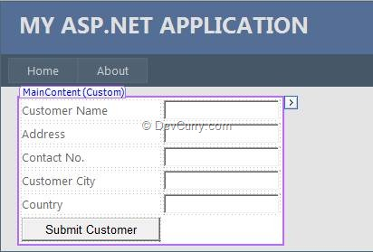 Sample ASP.NET Form
