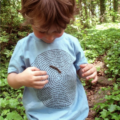 This T-shirt showcases a swirl of information on what various groupings of animals are called.  A favorite for this little wearer, it also encourages a broader perspective and compassion for  animals of all kinds- centipedes included!