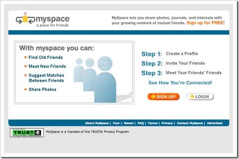 myspace first look