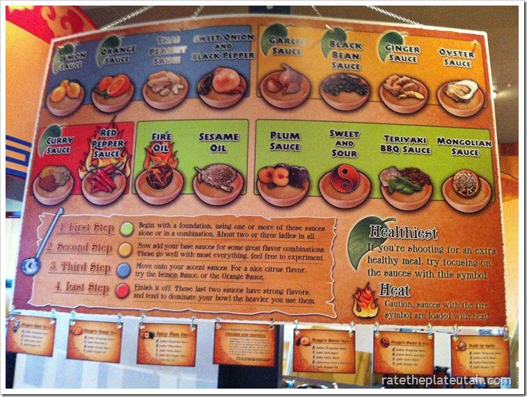 Mongo's Stirfry Sauce Chart