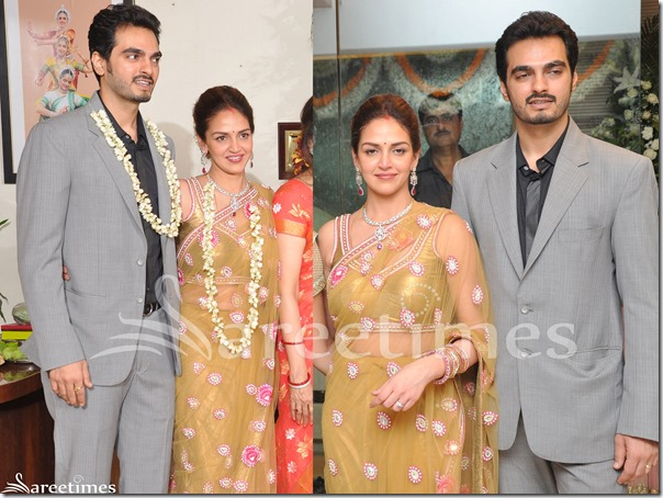 Esha_Deol_Gold_Net_Saree