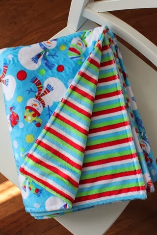 adorable double sided Minky throw blanket