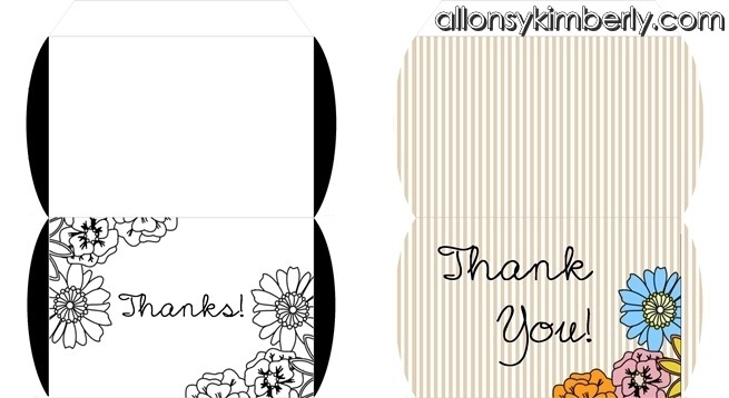 Thanksgiving GIft Box/Place Card Printable | allonsykimberly.com