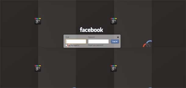 google+ theme on facebook login