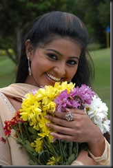sneha with flowers