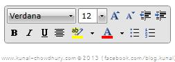 Telerik's RadRichTextBox Format Toobar
