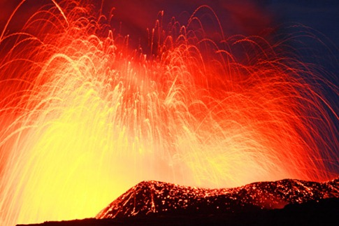 107. OMEARA BRIGHT LAVA FOUNTAIN KILAUEA
