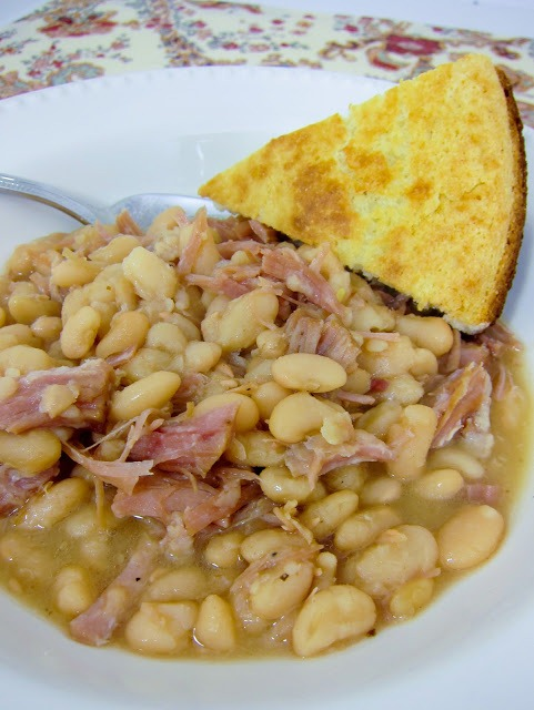 Slow Cooker Ham and Beans by Plain Chicken