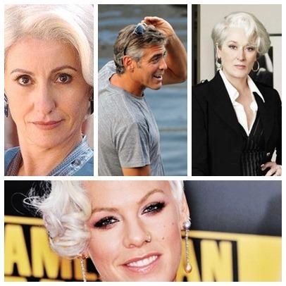 Artistas com cabelo branco