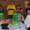 La pequeña Ariana Varela también fue ayudada con una entrega de pañales