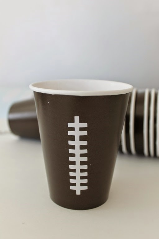 make your own football cups