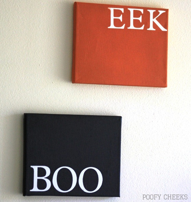 BOO and EEK Canvas Art by Poofy Cheeks