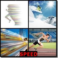 SPEED- 4 Pics 1 Word Answers 3 Letters