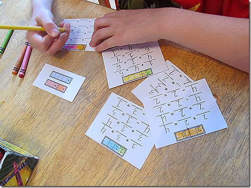 Free visual math flash cards and worksheets from Homeschooling Hearts & Minds