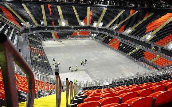 Баскетбольная Арена в Лондоне интерьер