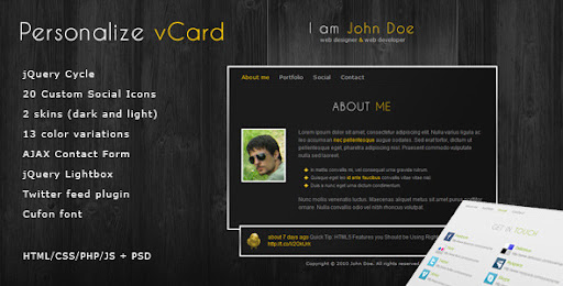 Premium virtual business card html templates personalize elegant personalize elegant and professional vcard theme virtual business card personal cheaphphosting Choice Image