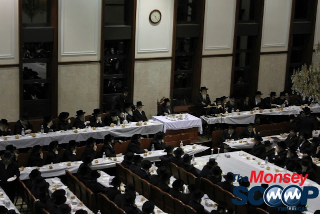 Yartzheit Tish For Stamar Rebbe Held In Satmar Beis Medrash Of Monsey (Photos by Moshe Lichtenstein) - IMG_5468.JPG