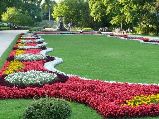 Рига, парк перед зданием Национальной оперы