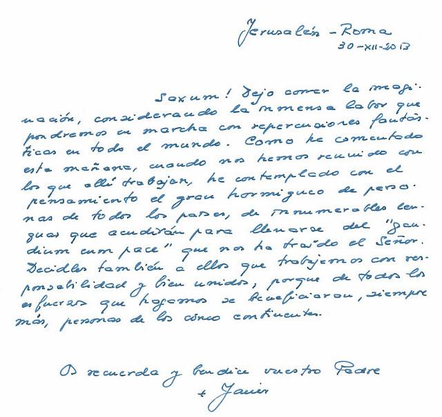 carta del padre saxum