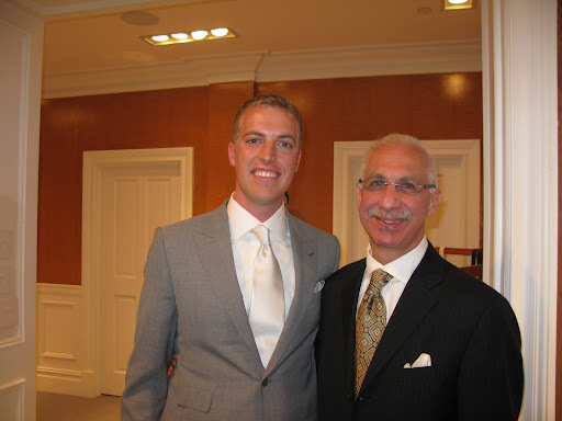 Our groom Colin and Frank Jedda from Kleinfeld.