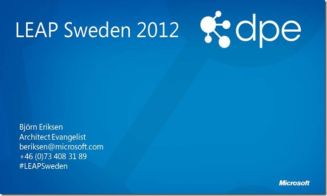 LEAP Sweden 2012 - Invitation