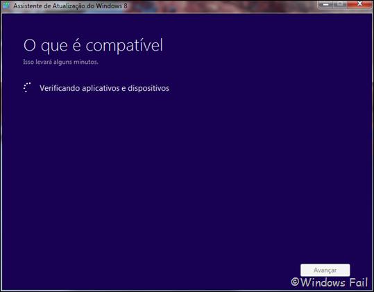 Assistente de atualização do Windows 8
