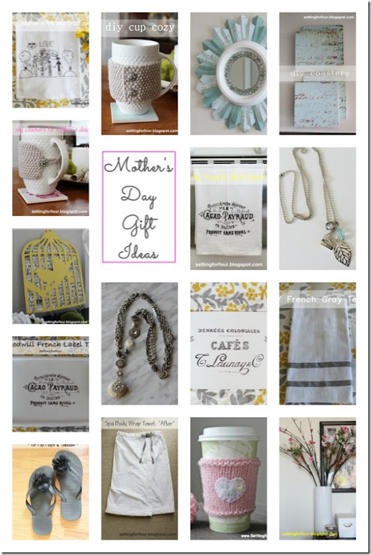 DIY Mother's Day Gift Ideas from Setting for Four