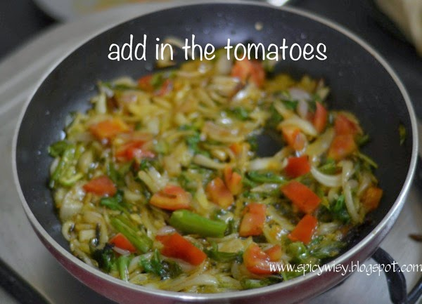 Add in the tomatoes
