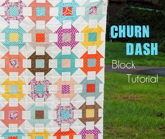 Churn Dash Block Tutorial, Cluck Cluck Sew