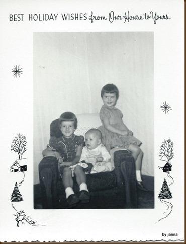 Me, Ann & Ross Christmas as kids
