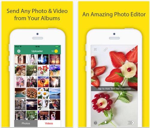 IPhoneのカメラロールの画像をSnapchat