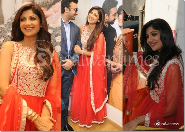 Shilpa_Shetty_Sleeveless_Net_Salwar_Kameez
