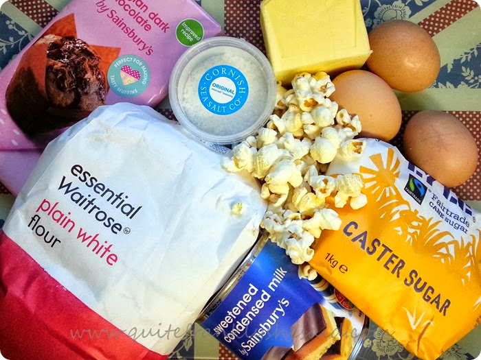salted caramel popcorn brownie ingredients