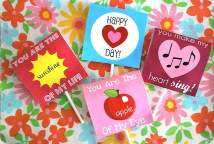 Lollipop Cover Printables from The Silly Pearl