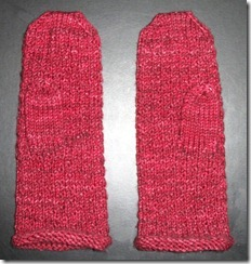 Nubby Noro Mittens - Thumbs