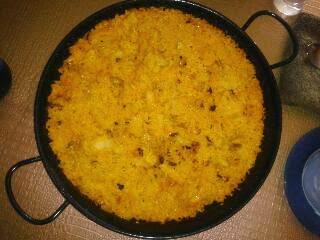Paella De Col Y Bacalao