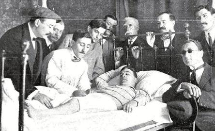 1912-05-30 (NUevo Mundo) Guarnerio cura a Bienvenida cornada Madrid