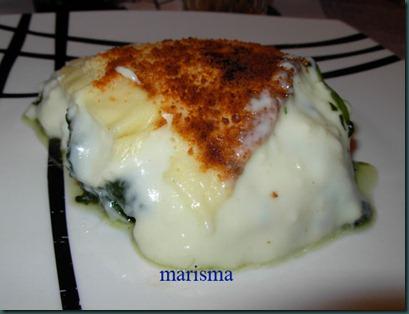 espinacas a la crema,racion