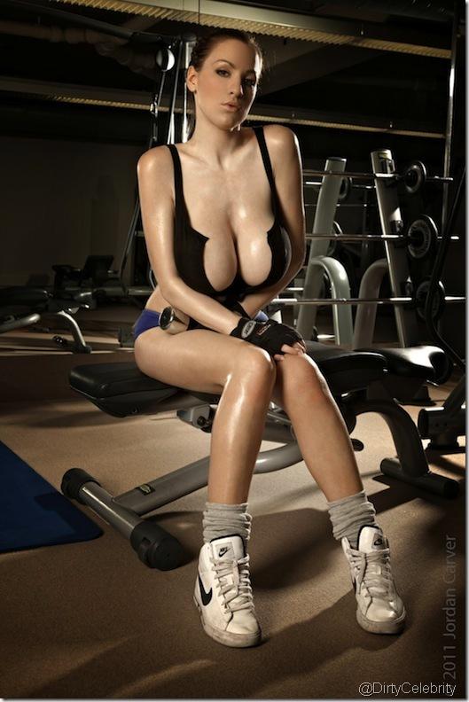 sweaty-Jordan-Carver-Gym-9