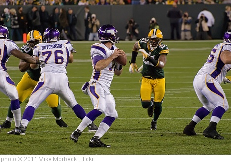 'Christian Ponder, Charles Woodson' photo (c) 2011, Mike Morbeck - license: http://creativecommons.org/licenses/by-sa/2.0/