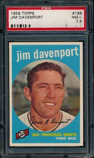 1959 Topps 198 Jim Davenport front