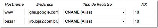 CNAME (Alias)