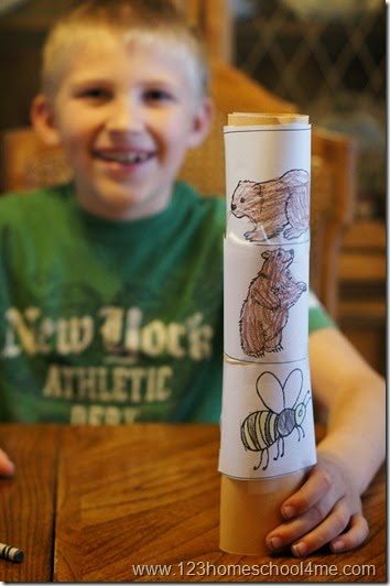 FREE printable totem pole craft for kids studying Native Americans