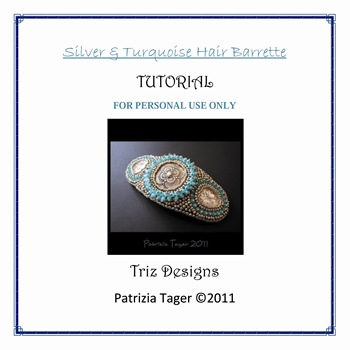 Silver & Turquoise Barrette Listing1 copy